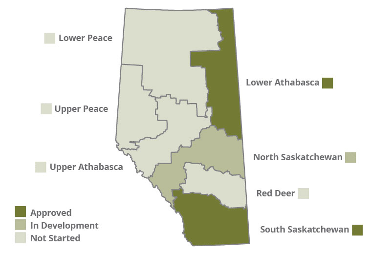 Status of Alberta's Regional Land-use Plans as of Fall 2018