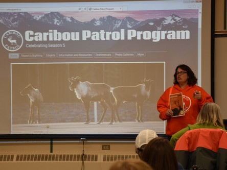 Chantelle Bambrick of the Caribou Patrol gives a rundown of the education and outreach they're involved in to help preserve Alberta herds.