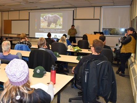 Gord Stenhouse presenting to Inside Education on the Grizzly Bear Program, which he runs.