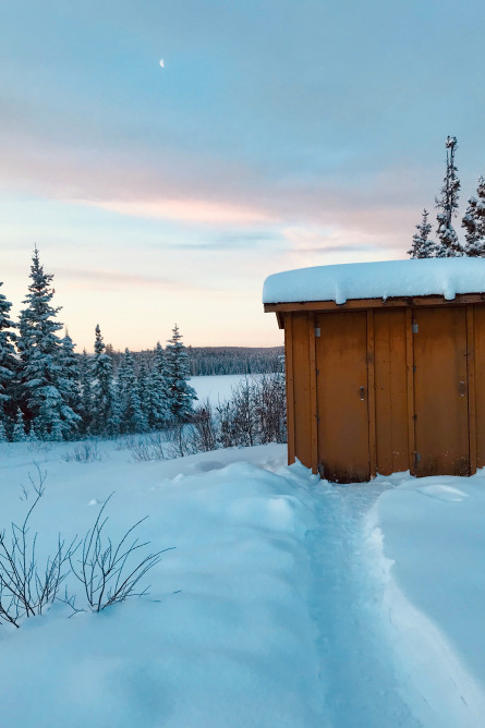 The outhouse at camp. Credit: Suzanne Stevenson