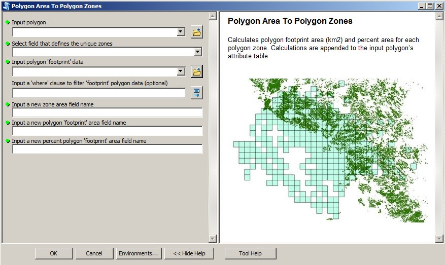 "Screenshot of the ""Polygon_Area_To_Polygon_Zones"" tool"