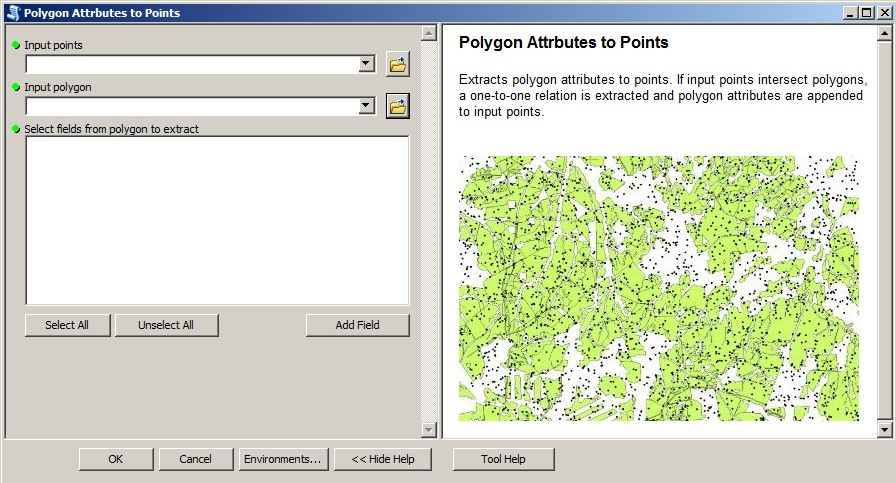 "Screenshot of the ""Polygon_Attributes_To_Points"" tool"