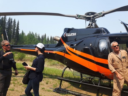 Helicopter ride for the EMEND tour May 2019