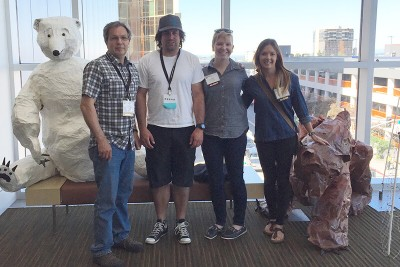 Gord, Terry, Anja, and Sarah in Anchorage, AK, for IBA 2016