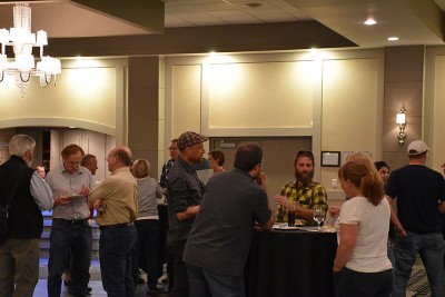 Networking over food and drinks on Tuesday evening.